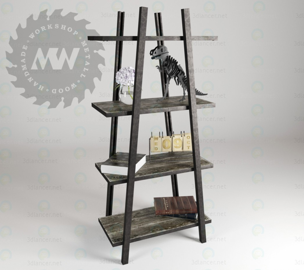 3d modeling Shelving in loft style model free download