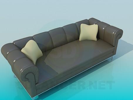 descarga gratuita de 3D modelado modelo Sofá de cuero