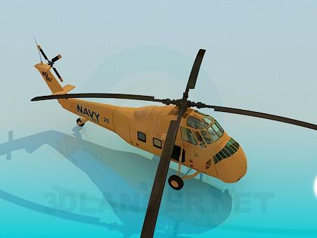 modelo 3D Helicóptero - escuchar