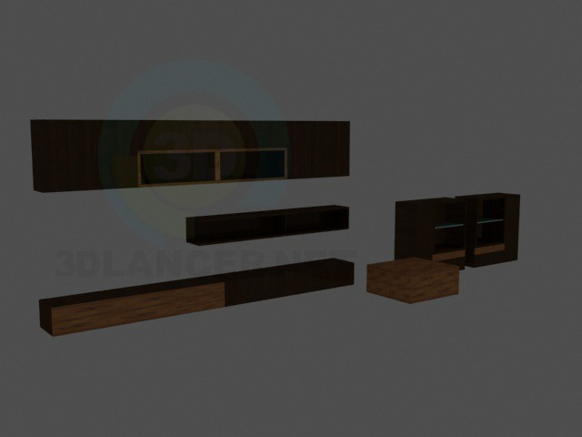 3d model muebles para sala de estar - vista previa