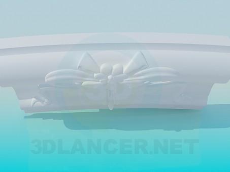 3d модель Бордюр радиусный – превью