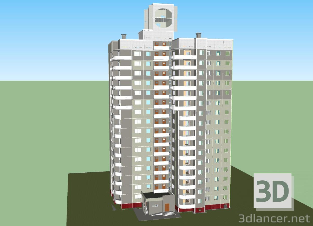 Modelo 3d Edificio Chelyabinsk De 16 Plantas Terraza Y Plataforma De Visión