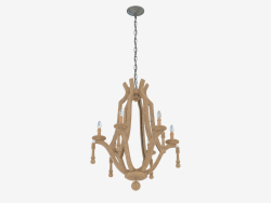 Chandelier Martello Wood 6k H85