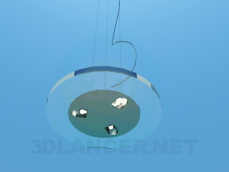 3d model Flat round luminaire - preview
