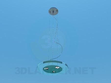 3d модель Плоский круглый светильник – превью