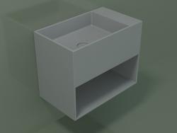 Wall-mounted washbasin Giorno (06UN33101, Silver Gray C35, L 60, P 36, H 48 cm)