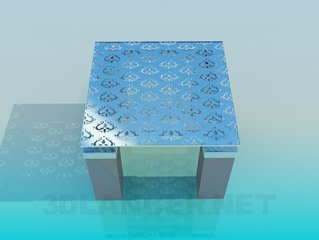 3d modeling Square low table model free download
