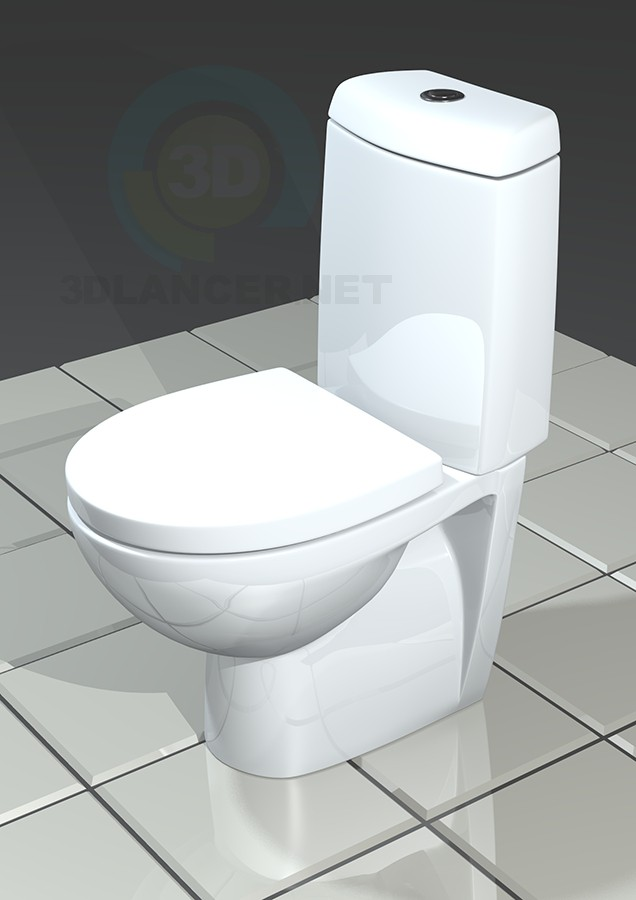3d model Toilet ROCA Victoria nord (Victoria Nord) - preview