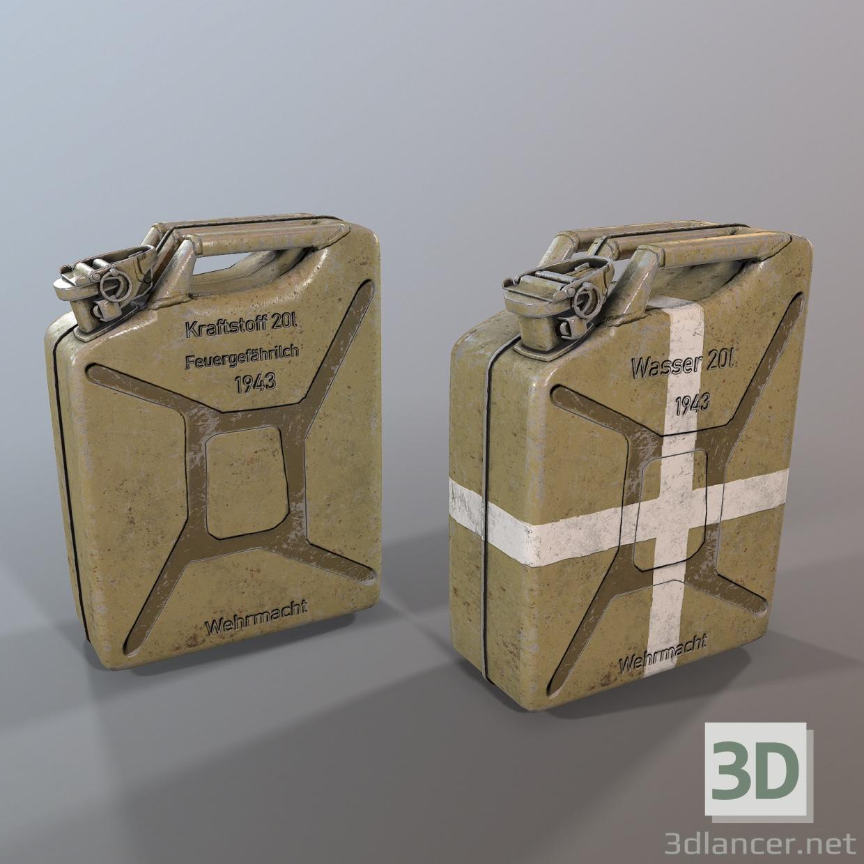 3d Jerry can 3d model model buy - render