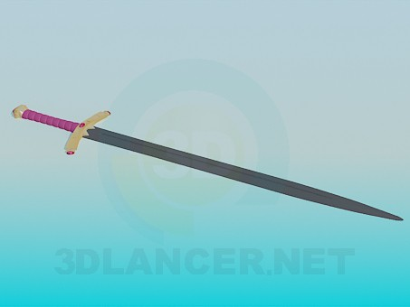 3d modeling Sword with decorated handle model free download