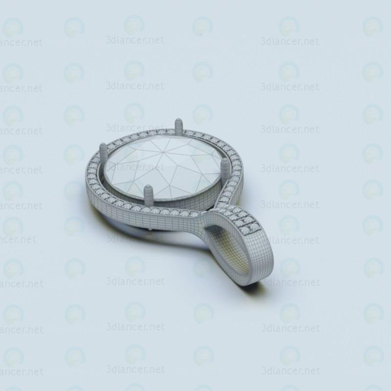 3d Ювелірний кулон модель купити - зображення