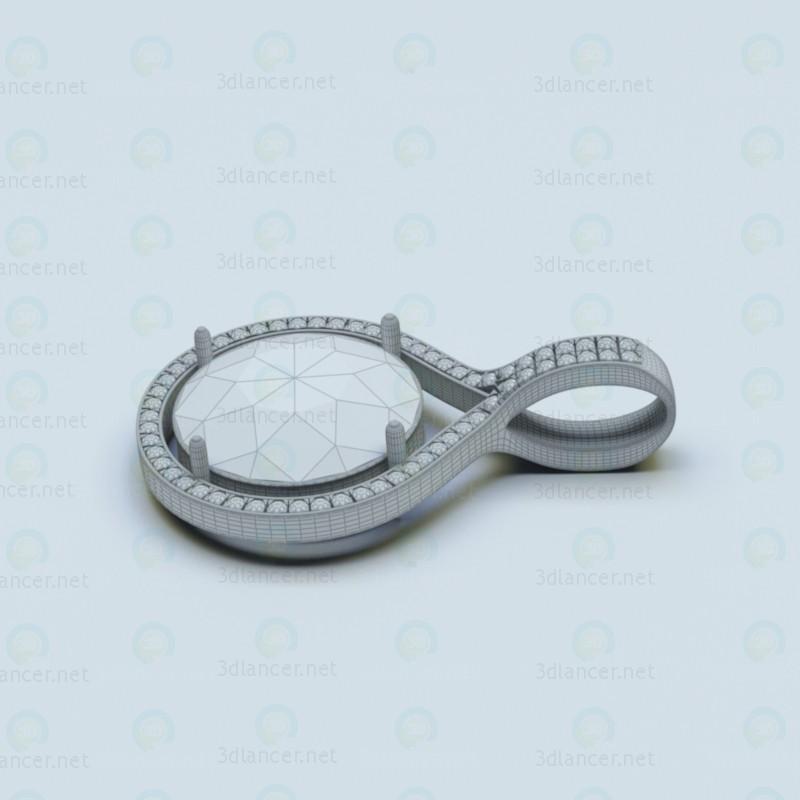 3d Jewelry pendant model buy - render