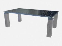 इस्पात पैर Tourandot Z01 पर आयताकार खाने की मेज