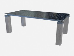 Sala da pranzo gambe Il rettangolare acciaio tavolo Tourandot z01