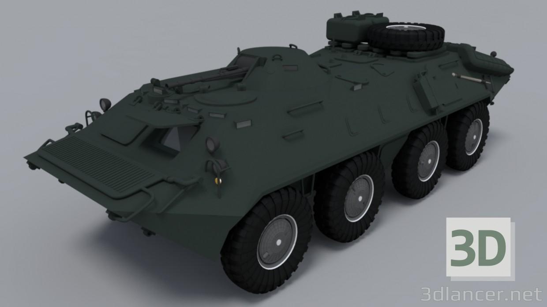 3d BTR-80 model buy - render