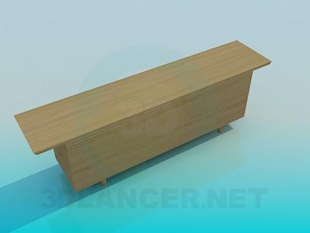 modelo 3D Armario para TV - escuchar
