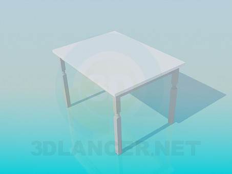 3d модель Кухонный стол – превью