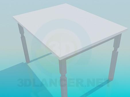 3d модель Кухонний стіл – превью