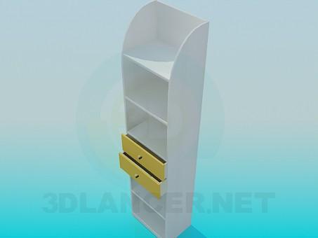 3d модель Этажерка с выдвижными ящиками – превью