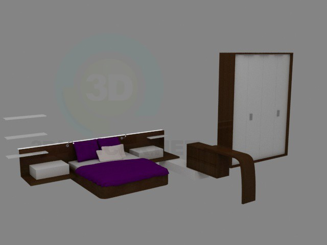 3d model Bedroom furniture - preview