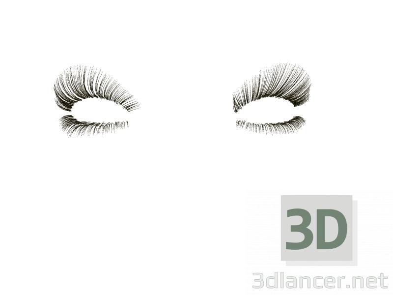 3d Eyelashes model buy - render
