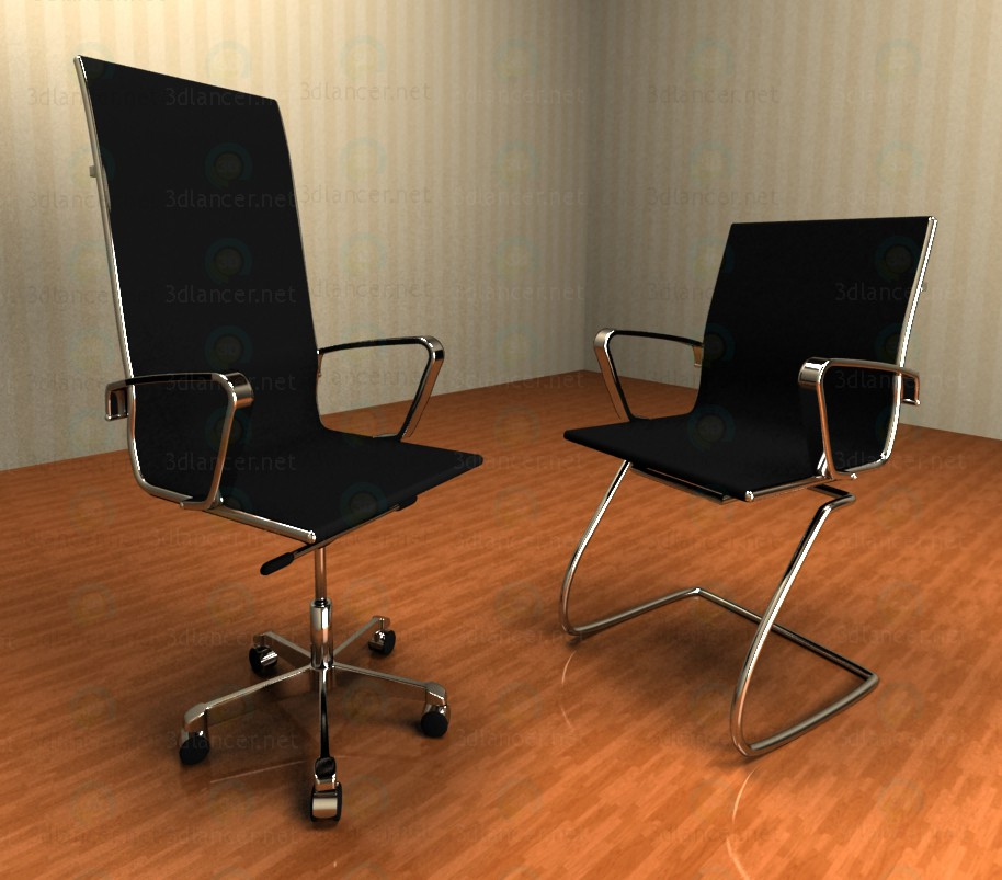 3d modeling Office chairs model free download