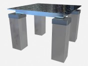 Coffee table with glass top Tourandot Z03