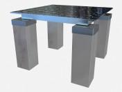 Coffee table with glass top Tourandot Z03