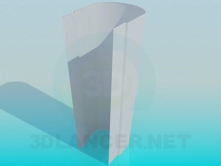 3d модель Ножка под тюльпан умывальника – превью
