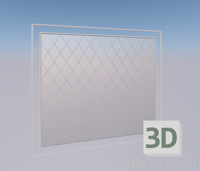 3d model Mirror panel - preview