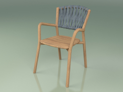Chair 161 (Teak, Belt Teal)