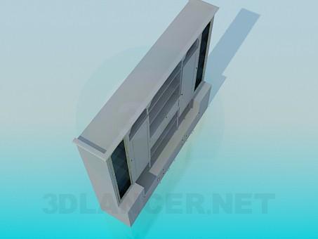 3d модель Симетричний великий стелаж – превью