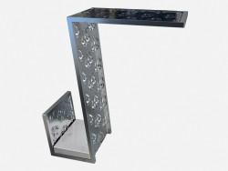 Приставной стол фигурной формы в стиле арт деко Tourandot Z04