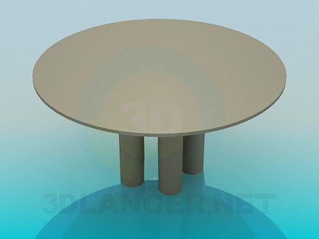 3d modeling Coffee round table model free download