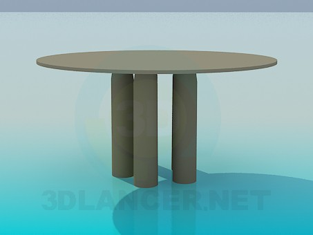 3d model Coffee round table - preview