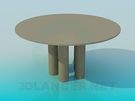 3d модель Журнальный круглый стол – превью