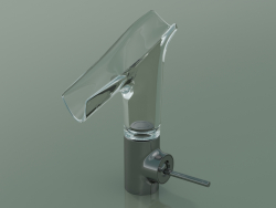 Single lever basin mixer 140 with glass spout (12112330)