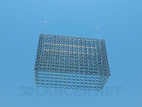 3d модель Прямоугольная стеклянная люстра – превью