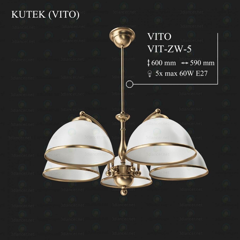 3d моделирование Люстра KUTEK VITO VIT-ZW-5 модель скачать бесплатно