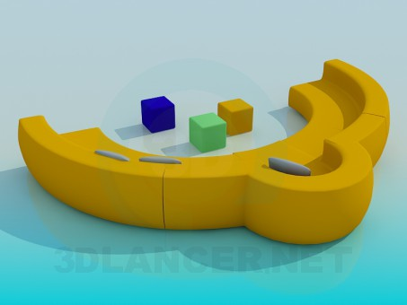 3d модель Диван полукруглый – превью