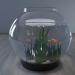 3d aquarium with goldfish model buy - render