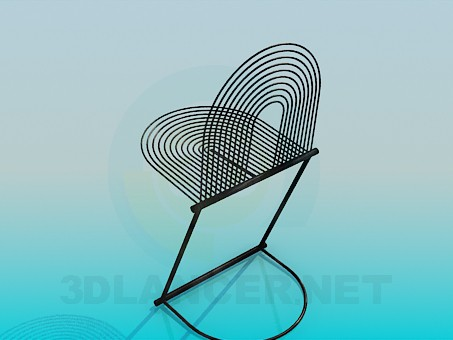 modelo 3D Silla de metal - escuchar