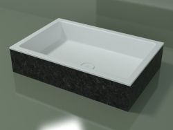 Vasque à poser (01R141301, Nero Assoluto M03, L 72, P 48, H 16 cm)
