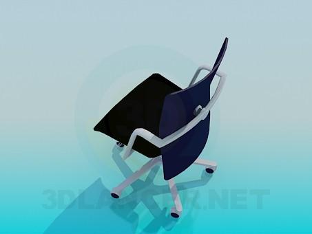 3d модель Стілець на коліщатках – превью