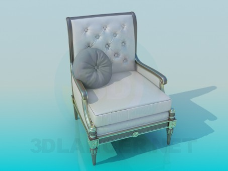 3d modeling Armchair antique model free download