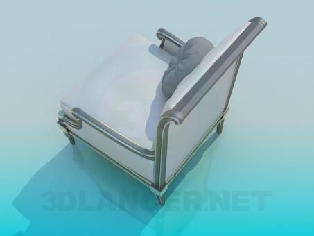 3d модель Кресло антикварное – превью