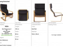 Poltrona poangana IKEA