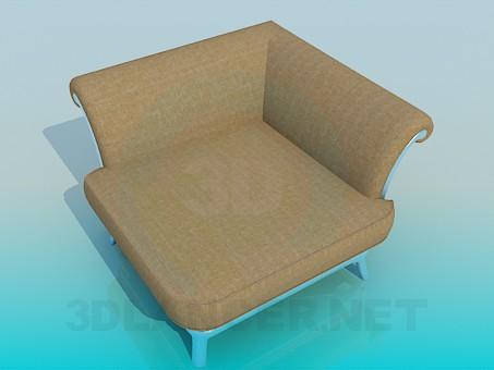 3d model Angular armchair - preview
