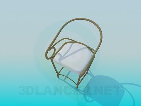 Sundurma veya çardak metal sandalye model ücretsiz 3D modelleme indir