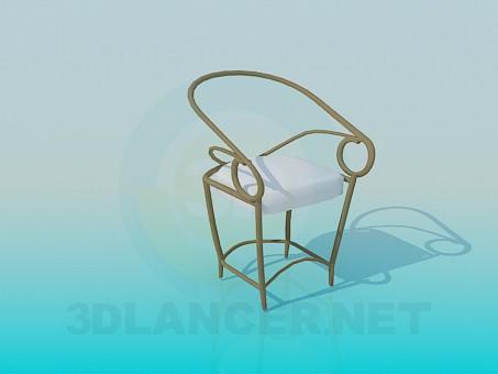 3d модель Металлический стул для крыльца или беседки – превью